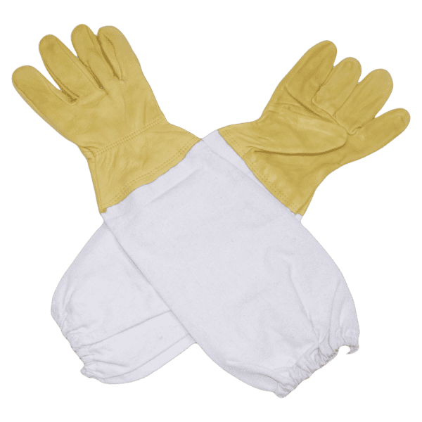 Beekeepers leather gloves with gauntlets