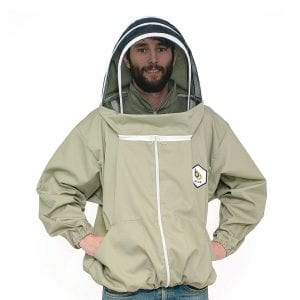 BB Wear bee suit jacket smock hood, sage