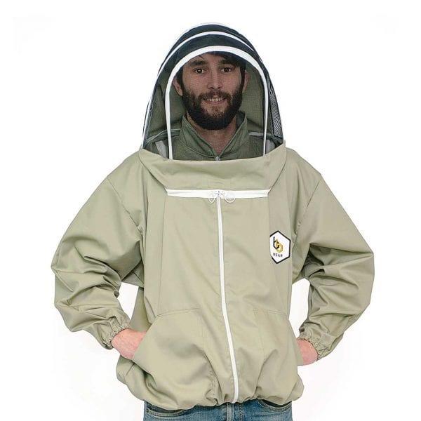 BB Wear bee suit jacket smock hood, sage