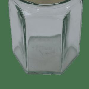 Hex Honey Jar 110ml (approx 4oz) Gold Twist Lid