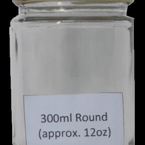 Round Honey Jar 300ml (approx 12oz) Gold Twist Lid