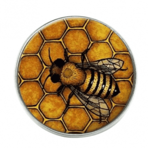 Honeycomb-Bee-Brooch-Backpack-Lapel-Pin-Button